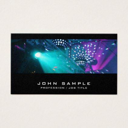 Dj Music Concert Party Planner Disco Luxury Business Card Luxury Gifts Unique Special Diy Cyo Party Planner Business Cards Party Planner Photo Business Cards