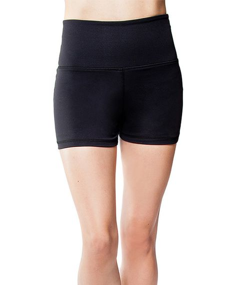 99e489c399b760 This CITYFITY performance Black Cutie Booty Shorts by CITYFITY performance  is perfect! #zulilyfinds