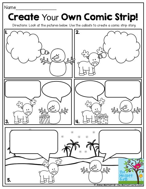 FUN-Filled Learning with NO PREP! Create Your Own Comic Strip! This is such a FUN way to get second grade students writing creatively!Create Your Own Comic Strip! This is such a FUN way to get second grade students writing creatively! Work On Writing, Teaching Writing, Writing Activities, Classroom Activities, Preschool Bulletin, Writing Comics, Writing Ideas, Creative Writing, Classroom Decor