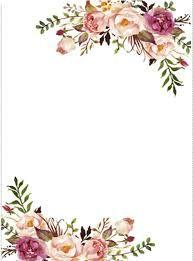Watercolor Floral Border Paper Printable Google Search