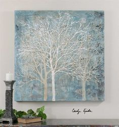 Uttermost Muted Silhouette Canvas Art - x in.