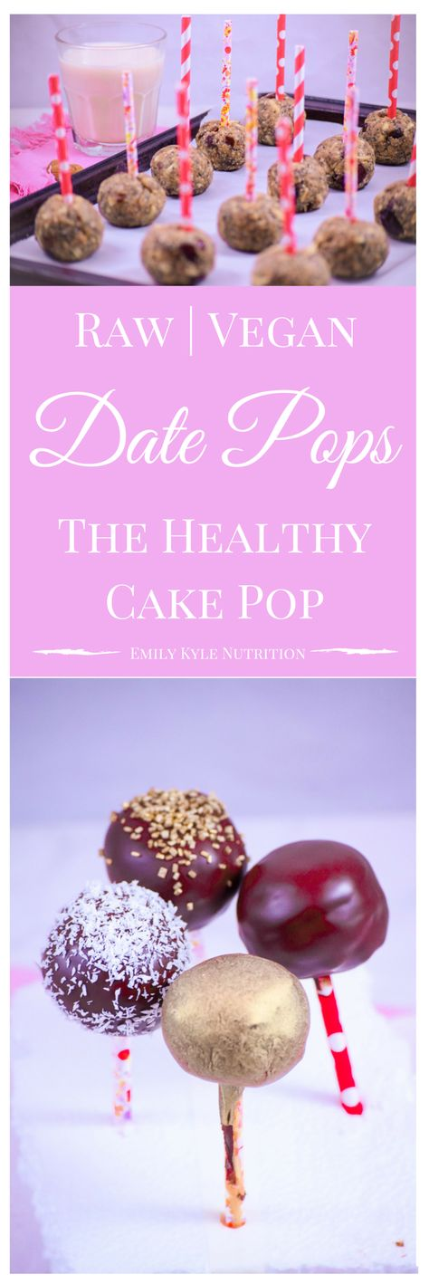 If you're looking for a healthy dessert that tastes amazing too, you've found it! These raw, vegan, no bake Date Pops are made to provide the same joy of eating a sweet treat on a stick, like the traditional cake pop, with wholesome ingredients that will fuel your body with energy and nutrients.