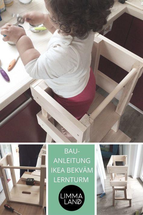 IKEA BEKVÄM Lernturm Ein IKEA Hack für neugierige Nasen Babies - ikea küche anleitung