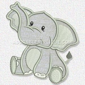 Free Embroidery Design – Elephant – Freedesigns com