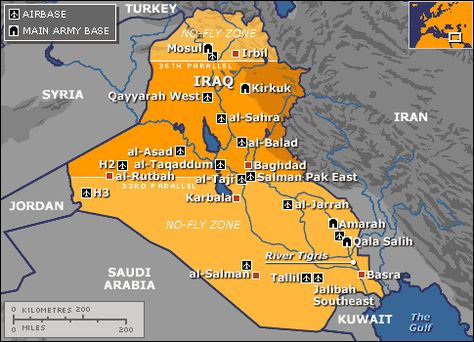 Gulf War II AmericanAllies History Events Worth Remembering - Us bases in kuwait map