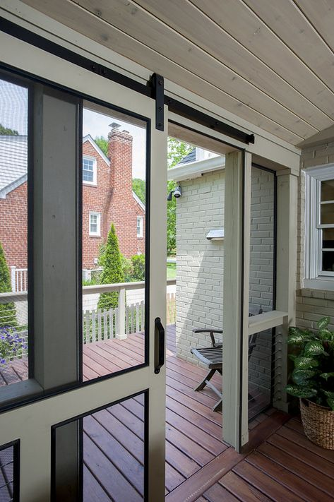 Screened Porch Doors, Screened Porch Designs, Porch Windows, Screened In Deck, Enclosed Porches, Screened Porch Furniture, Screened Porch Decorating, Deck Decorating, Deck Furniture