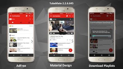 Download Tubemate Apk Android Material Design Download App Application Android