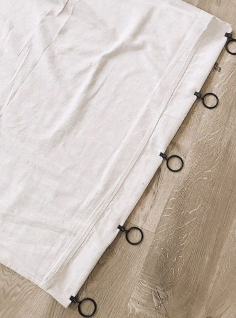 easy no sew drop cloth curtains Meant to Measure curtains cost more because they require expert craf Canvas Curtains, No Sew Curtains, Curtain Fabric, Bedroom Curtains, Painting Curtains, Camper Curtains, Gypsy Curtains, Vintage Curtains, Ikea Curtains