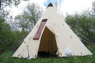 10 Person Man Teepee Tent Large Family Pyramid Camping