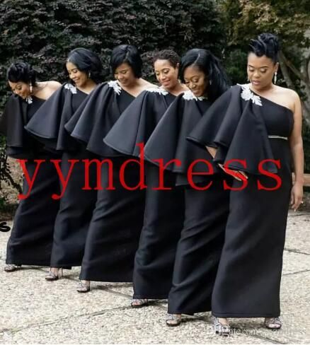 Black Bridesmaid Dresses South Africa Style Nigerian Plus Size Mermaid Maid Of Honor Gowns For We Black Bridesmaids Bridesmaid Dresses Black Bridesmaid Dresses