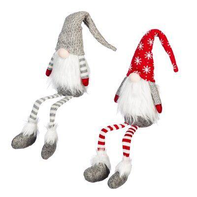 The Holiday Aisle 2 Piece Fabric Gnome Set Creative Christmas Gnomes The Holiday Aisle