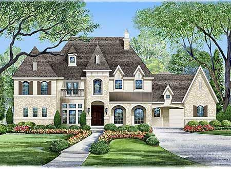 Plan W36176tx Luxury European French Country Corner Lot House Plans Home Designs Frenc House Plans Mansion French Country House Plans Luxury House Plans