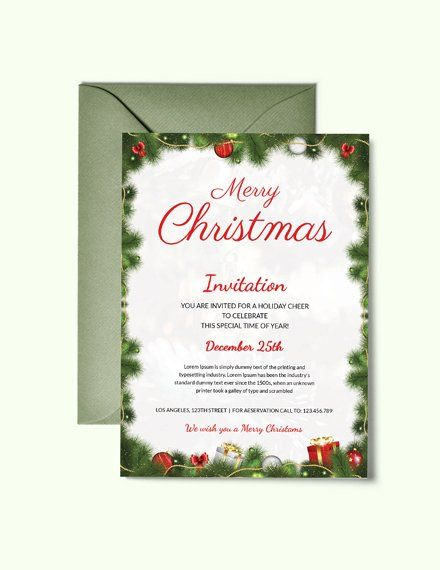Pin By Ashley Reid On Christmas Christmas Party Invitation