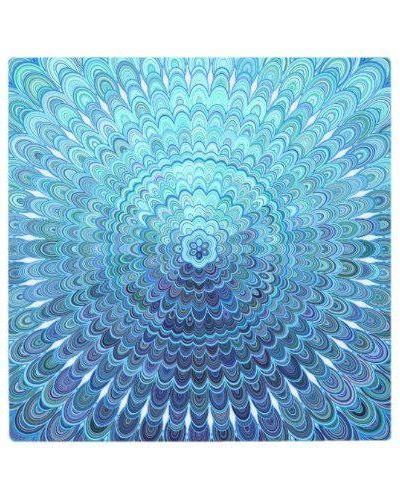 Frozen Oval Mandala Metal Print For 83 90 Walldecoration Metalprint Artprints Walldecor Metal Walldecor Mandala Blanket Mandala Wall Decor Throw Blanket