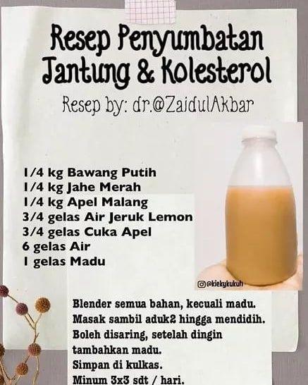 Dr Zaidul Akbar Fanbase On Instagram Resep Pemyumbatan Jantung Kolesterol Penyempitan Atau Sumbatan Pada Pembuluh Darah Bis Resep Hidup Sehat Instagram