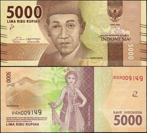 UNC/>New Design 2016 Indonesia 10000 Rupiah AAA Prefix P-NEW