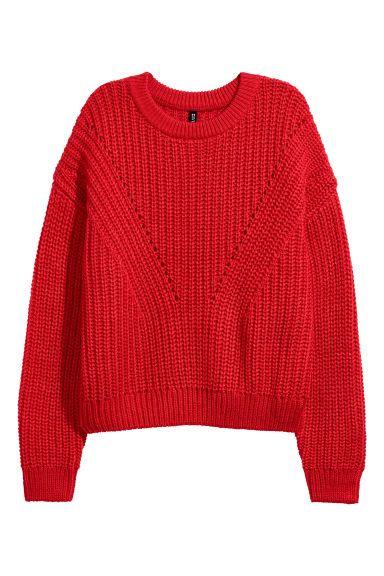 Ribgebreide trui in 2019 Trui, Breien truien en Rode truien