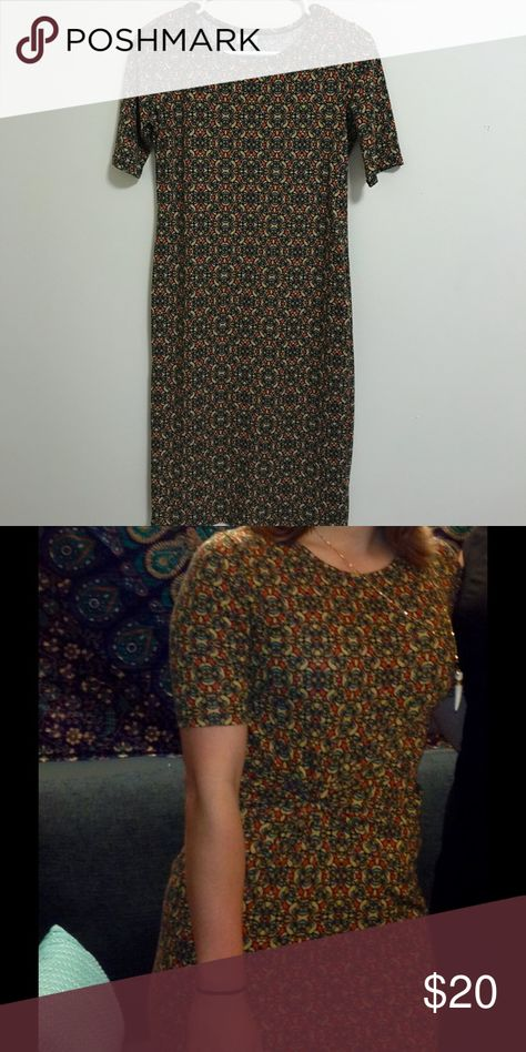 LuLaRoe Julia Dress Excellent quality! Only worn once! LuLaRoe Dresses Midi