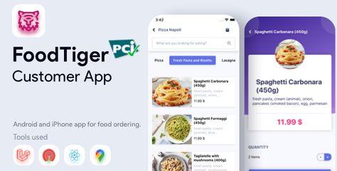 Food Delivery ReactNative – FoodTiger | Codelib App