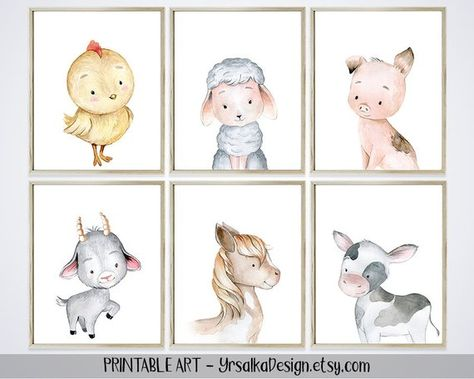 Farm Nursery Decor Animal Prints Baby