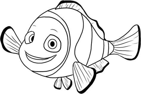 Finding Nemo Animal Cartoon Coloring Pages Desenhos Animados