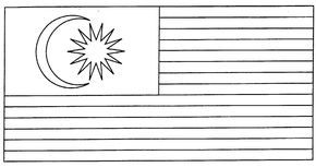 Bendera Malaysia Gambar Mewarna Colouring Picture Malaysia Flag Flag Coloring Pages Flag Printable