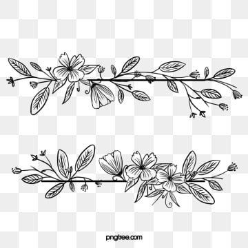 Black Hand Drawn Line Side Wedding Decoration With Plant Floral Border Marry Wedding Ceremony Plant Vine PNG Transparent Clipart Image and PSD File for Free in 2020 Wreath drawing Watercolor