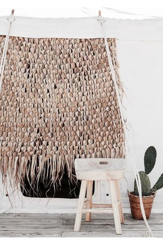 Open Straw Light Braided Palm Suspension Boho Day Offal Warm Light Wicker Straw