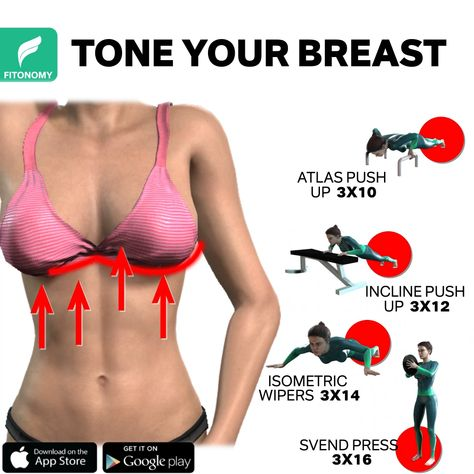 Looking to tighten and tone your breast but don't know where to begin? Well, look no further than these four exercises that can be completed at home. Even though we can't increase their size with training we can surely give them a lift and make them appear bigger and perkier. These workouts require dumbbells only, but you can use any other item at home as a fitness weight or equipment. Make your days fun and effective this is the best time to take care of our body. 😍 #breastworkout #exercises