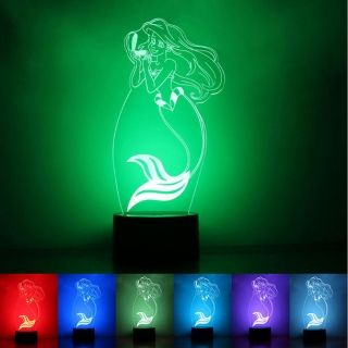 Veilleuse Led 7 Couleurs Design Illusion 3d Creative Decor Lampe