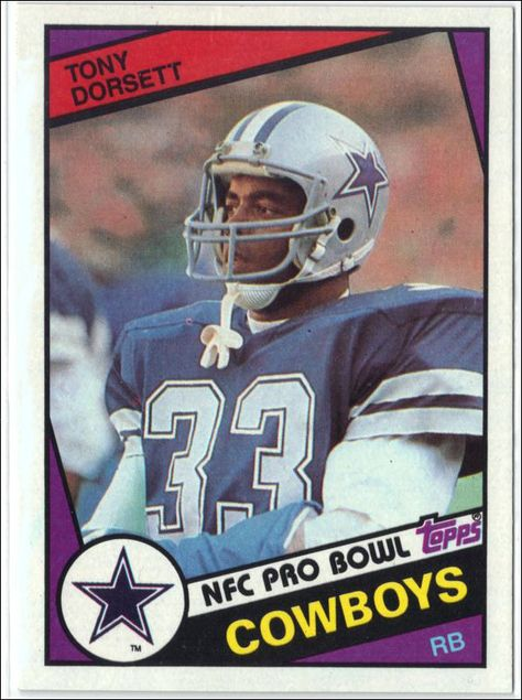 1984 Topps #238 TONY DORSETT, GRADED 8.8 NM-MT+ Dallas Cowboys, Running Back!