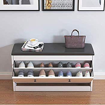 Amazon Com Slow Time Shop Us Shoe Storage Bench With Flip Drawer