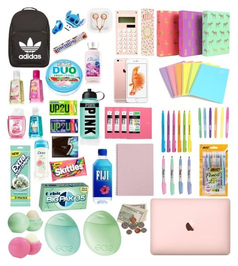 Whats In My Backpack What's In My Backpack by tarilove like on adidas Topshop Eos Greenroom Ladu Middle School Lockers, Middle School Hacks, Middle School Outfits, High School Hacks, Life Hacks For School, Back To School Clothes, School Stuff, Back To School Backpacks, School Emergency Kit
