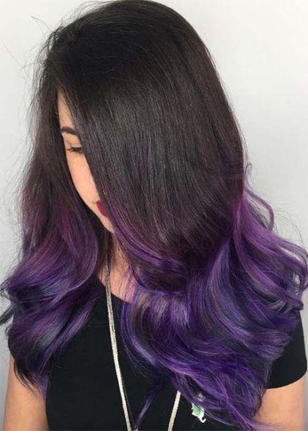 54 Trendy Hair Color Medium Length Purple Deep Purple Hair Purple Hair Tips Hair Color Purple