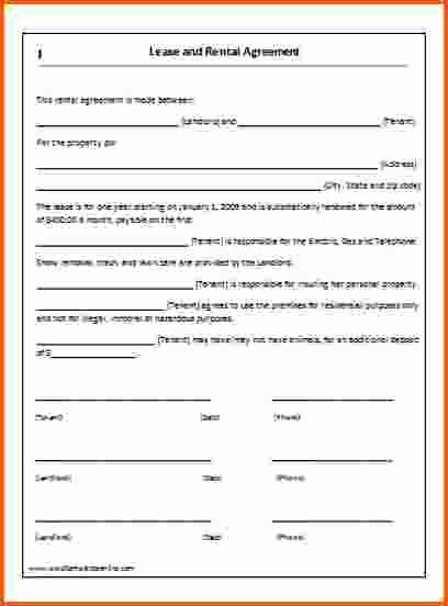 40 Rental Agreement Template Word In 2020 Rental Agreement