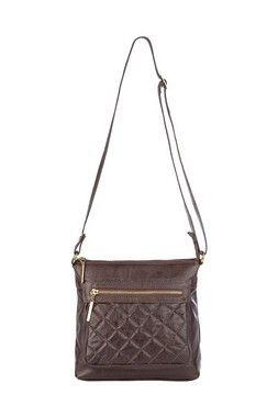 37863b7f2220a Bolsa Transversal feminina de couro Chloe café | bolsas femininas ...