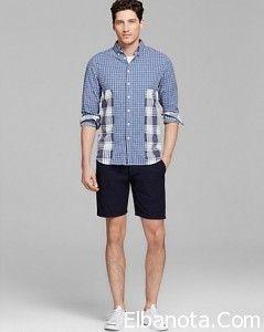 ملابس رجالي صيف 2014 موضة صيف 2014 رجالى احدث اطقم شبابى صيفي Mens Tops Men Casual Casual Button Down Shirt