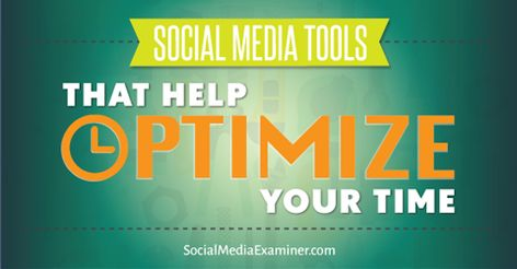 Social Media Tools That Help Optimize Your Time - Social Media Marketing - Grow your social media account and followers #socialmedia #socialfollowers #socialmediaaccount -  Need help maintaining your social accounts finding content to curate or monitoring competitors? Try these tools to help simplify these processes.