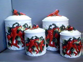 Chili Pepper Themed Kitchen Ideas That Add Spice And Color Organized Sparkle Chili Peppers Decor Kitchen Decor Sets Stuffed Peppers