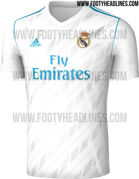 b3a73e4cae2 The Real Madrid 17-18 home shirt introduces a clean and modern design in  white and teal