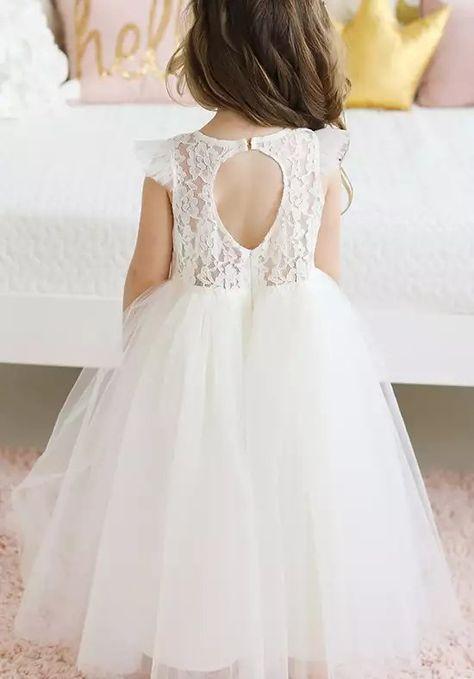4bf5ecbe063 FATTIEPIE apple Ivory Flower Girl Dress