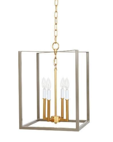 Grey And Gold Transitional Lantern With Images Modern Lighting