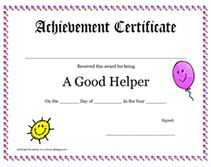 Youre a star end of the year certificates curriculum good helper awards certificate yelopaper Choice Image