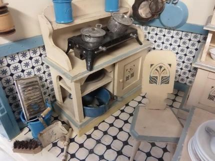 Puppenküche Antik Deutsch um 1920 über 200 tlg Antike - küchen gebraucht münchen