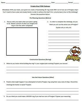 Pringles Ring Challenge AVID/STEAM | Stem challenges, Stem ...
