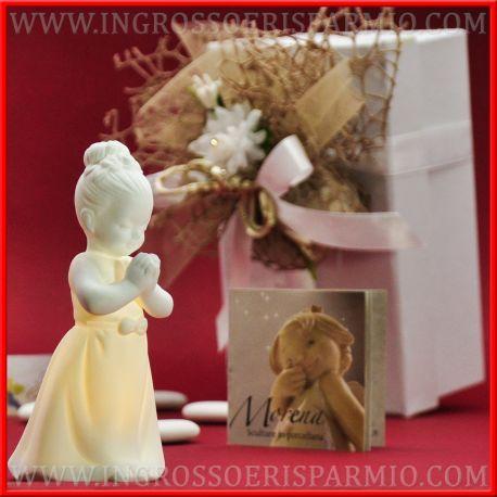 Morena Bomboniere Prima Comunione Statuine Bambina Porcellana Collezione Led 2018 Pregiata Scontate Online Bomboniere Comunione Bomboniera