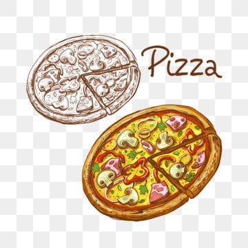 Um Conjunto De Ilustracoes Vetoriais De Pizza Italiana Redonda Inteira E Fatia Pizza Queijo Quente Imagem Png E Vetor Para Download Gratuito Pizza Logo Italian Pizza Pizza