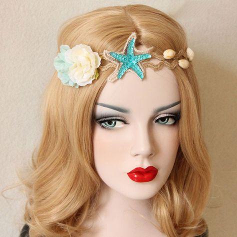 Femme Plage Fleur Couronne Mariage Bandeau Couronne Hairband Party