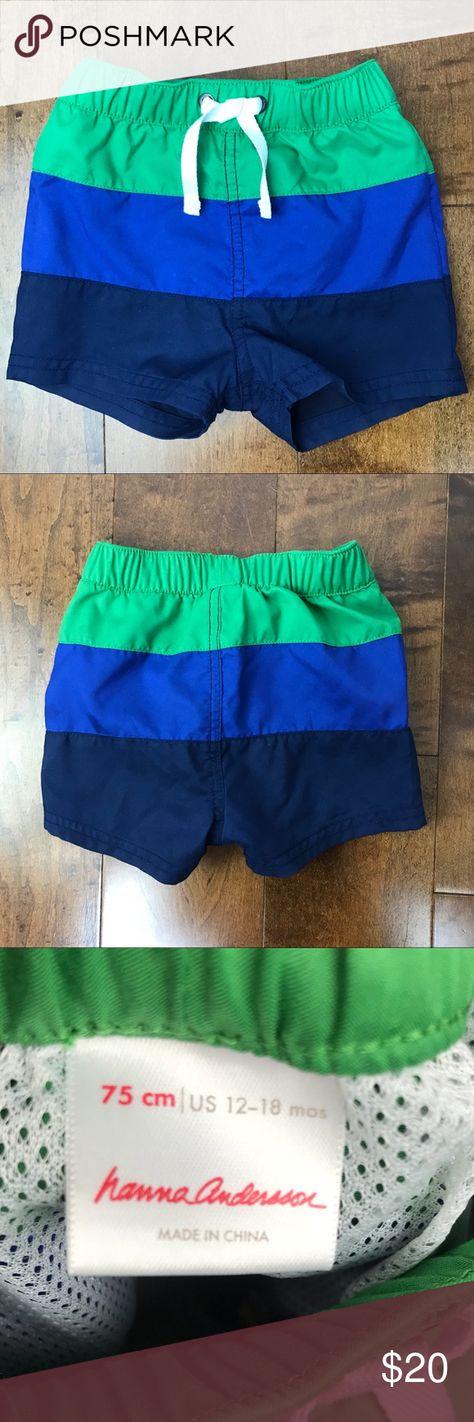 efcfca9099 NEW Hanna Andersson Boys Striped Swim Trunks Fantastic swim trunks! New  condition, never worn