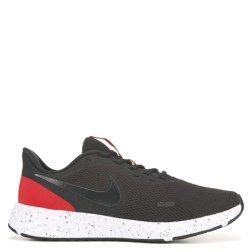 Men S Revolution 5 Wide Running Shoe Nike Preto E Vermelho